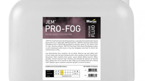 Martin Pro Pro-Fog Fluid, Extra Quick Dissipating 9.5L Container Of Water-Based Extra Fast Dissipating Fog Fluid For JEM Fog Machines