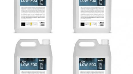 Martin Pro Jem Low-Fog Fluid 4-5L Containers Of Water-Based Low-Fog Fluid For JEM Glaciator